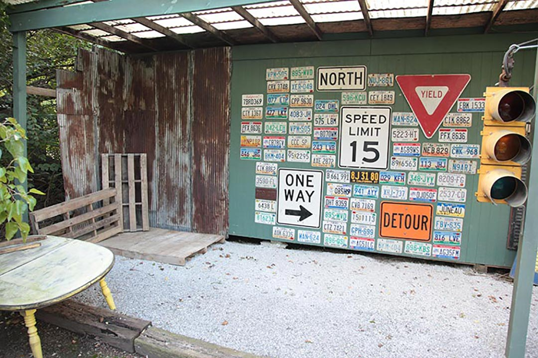 License Plate Wall