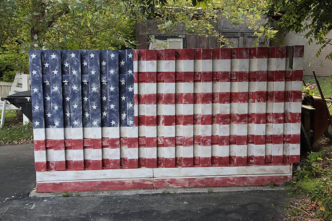 American Flag Fence