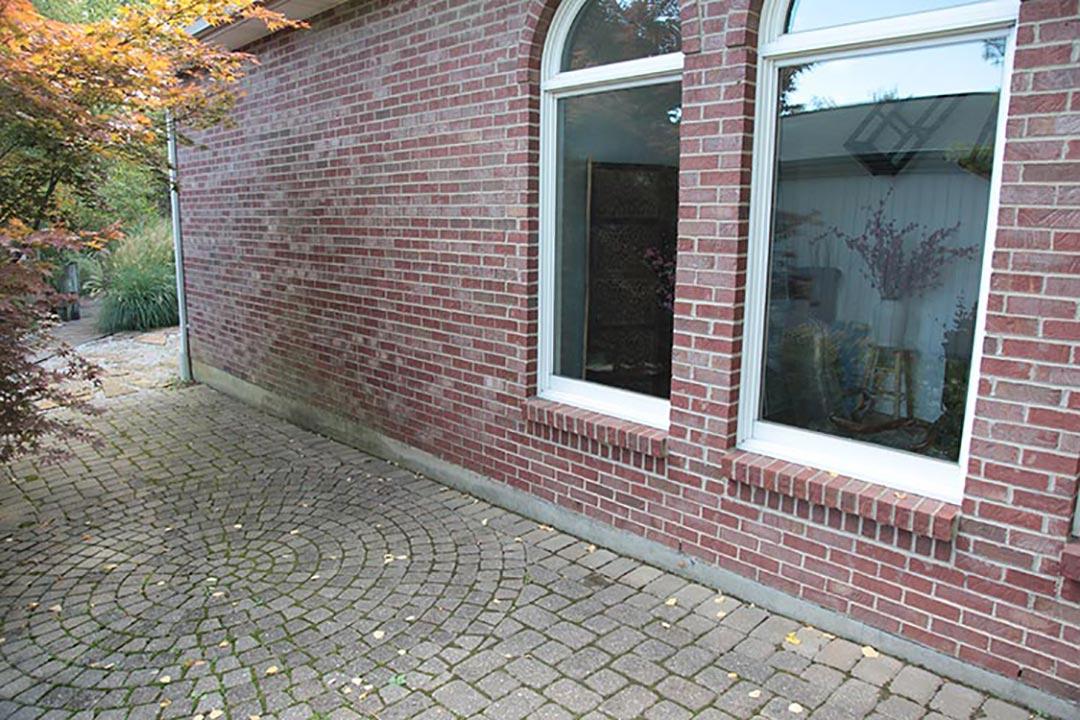 Brick Wall and Paved Stone
